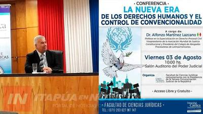 UCI PROPICIÓ CONFERENCIA SOBRE LA NUEVA ERA DE LOS DDHH