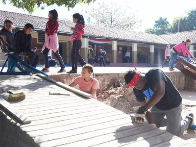 Fundación religiosa repara escuela ignorada por el MEC y el Municipio