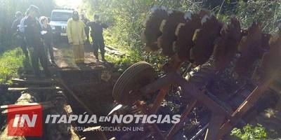 ACCIDENTE DEJA DOS OPERADORES DE MAQUINARIAS HERIDOS EN TRP.