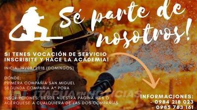 INVITAN A FORMARSE EN LA ACADEMIA DE BOMBEROS CAMBYRETÁ