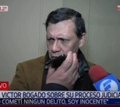 Víctor Bogado: ¿Qué pecado cometí?, soy inocente