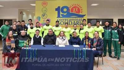 UNAE  LANZA 19° EDICIÓN DE LA CORRECAMINATA SOLIDARIA