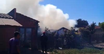 Incendio consume vivienda en Concepción
