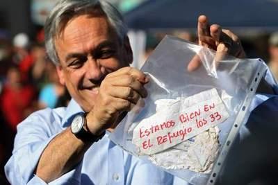 Piñera conmemora los 8 años del accidente de los 33 mineros de Atacama