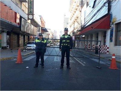 Calles del microcentro de Asunción se encuentran cerradas