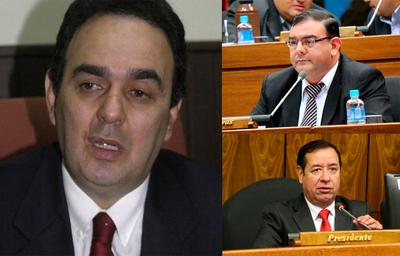 Cartistas intentan trabar al presidente de la Cámara de Diputados