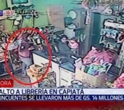 Se llevaron G. 14 millones de una librería de Capiatá