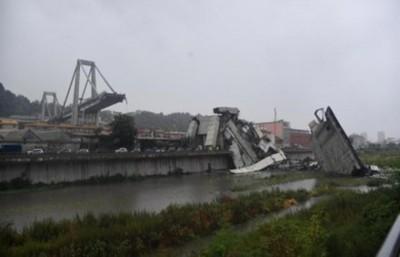 Derrumbe de viaducto en Italia deja muertos y heridos