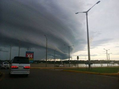 La tormenta va hacia el Chaco