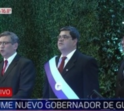 Gobernador de Guairá asume su cargo