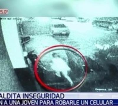 Revelan imágenes de asalto y muerte de joven en Asunción