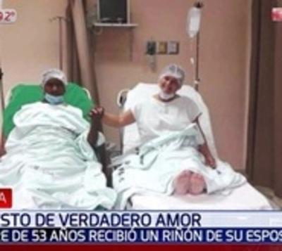 Enorme gesto de amor: Mujer dona un riñón a su esposo