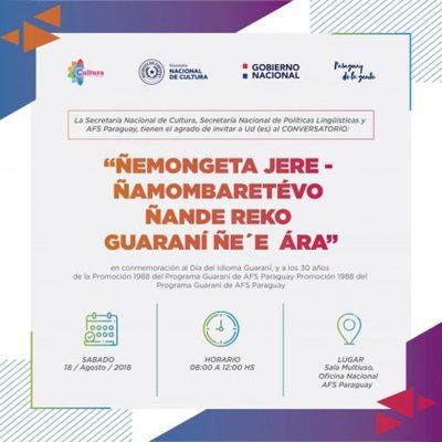 Realizarán Conversatorio en homenaje al Día de la Lengua Guaraní