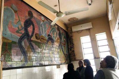 Urge restaurar murales de Plá-Laterza en Hospital del Trauma, según especialista