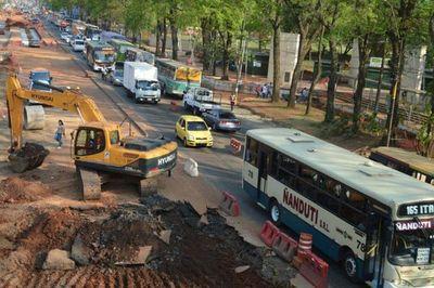 Suspenden obras en el metrobús