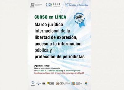 Inscripción abierta para curso sobre derecho a la información