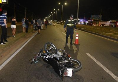 Motociclista falleció en Limpio