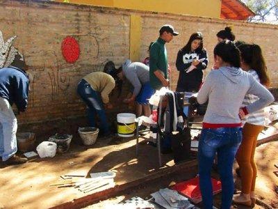 Estudiantes construyen un paseo cultural en Misiones