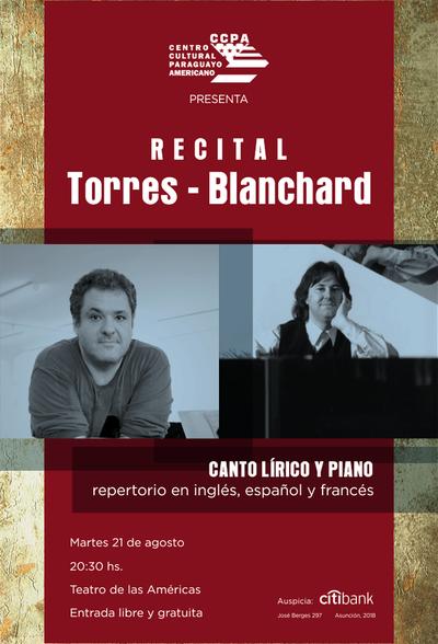 Concierto de canto lírico y piano en el CCPA
