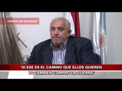 GOBERNADOR DE ITAPÚA SE DESPACHO CONTRA SCHMALKO