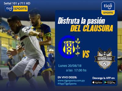 Capiatá versus General Díaz, por Tigo Sports +