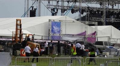 Tras tormenta, se registró decenas de heridos en un concierto musical