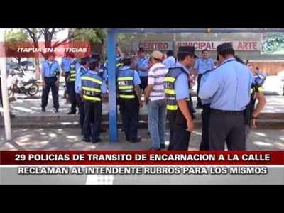 29 AGENTES DE TRANSITO DE ENCARNACION A LA CALLE