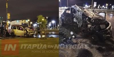 CHOQUE DE VEHÍCULO Y VUELCO  DEJA UNA FALLECIDA EN ENCARNACIÓN.