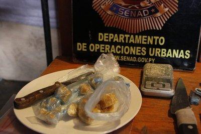 Detienen a microtraficante de crack en el Bañado Sur