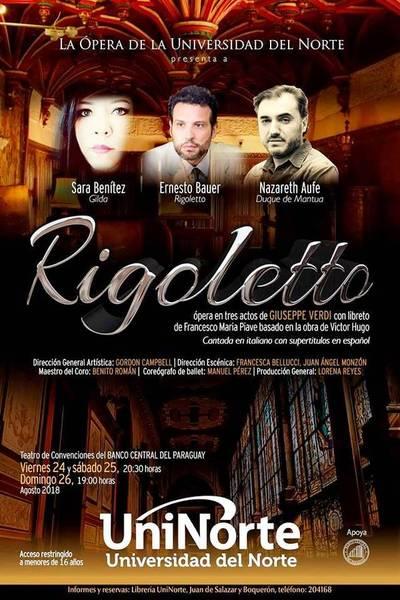 """""""Rigoletto"""" de Verdi presenta Ópera de la Uninorte"""