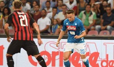 Napoli  gana al Milan tras una remontada épica