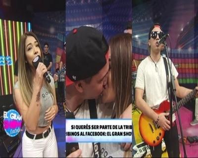 """Male González selló su amor con un beso en """"El Gran Show de latele"""""""