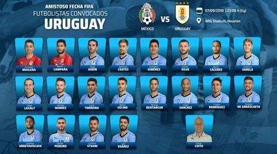 Cavani y Gómez, ausentes en lista de Uruguay