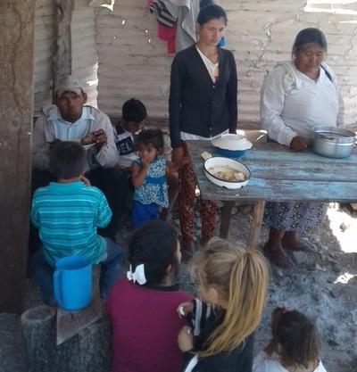 Con olla popular, mineros de San Alfredo exigen salarios