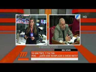 Oviedo Matto presentará su renuncia
