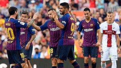 Barcelona golea y lidera el campeonato español