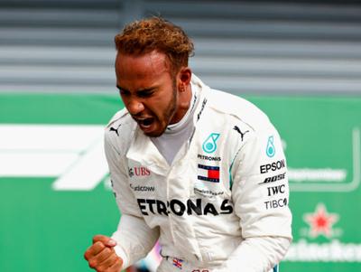 Hamilton triunfó en Italia