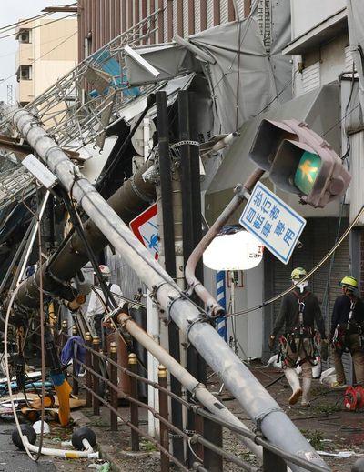 Al menos seis muertos deja el peor tifón en 25 años que golpea a Japón