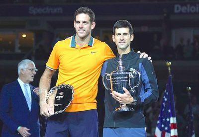 Djokovic sonríe ante un lloroso Del Potro