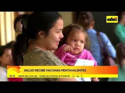 Salud recibe vacunas pentavalentes