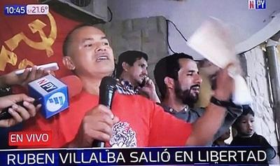 Rubén Villalba está en libertad