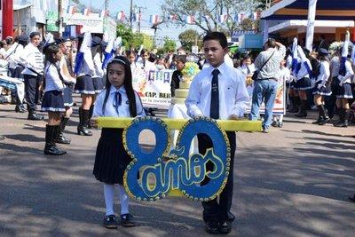 Escuela luqueña celebra 80 años de vida institucional