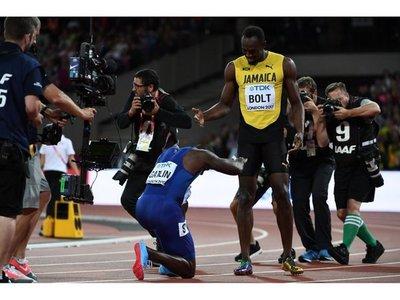 Gatlin y Coleman vencen a Usain Bolt en su último 100