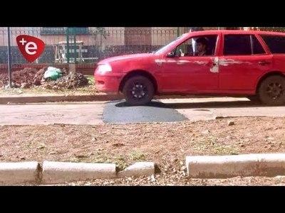 Encarnación: Colocan nuevas lomadas para prevenir accidentes