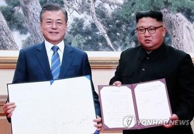 Los líderes de ambas Coreas acuerdan eliminar todas las amenazas de guerra en la península coreana