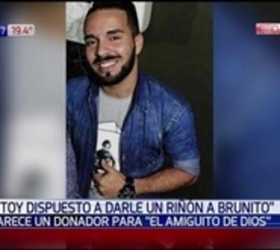 Joven ofrece su riñón a Brunito