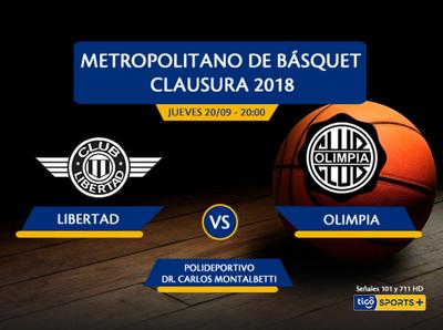 Libertad versus Olimpia Kings, por Tigo Sports +