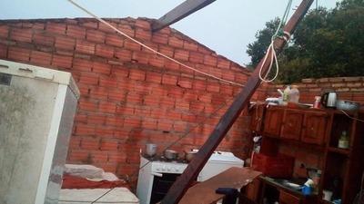 El terrible vendaval también causó destrozos en Curuguaty
