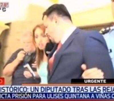 Quintana ya está preso en Viñas Cué y culpa al clan Zacarías