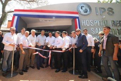 Inauguran obras en IPS de San Pedro